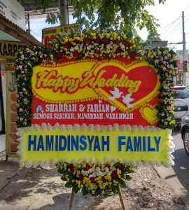 Bunga Papan Happy Wedding 750
